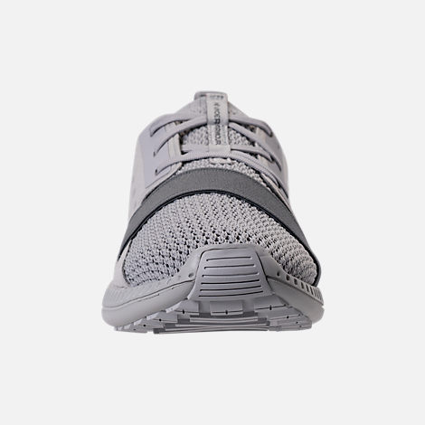 Front view of Boys' Grade School Under Armour Threadborne Shift Casual Shoes in Aluminum/Grey/Aluminum