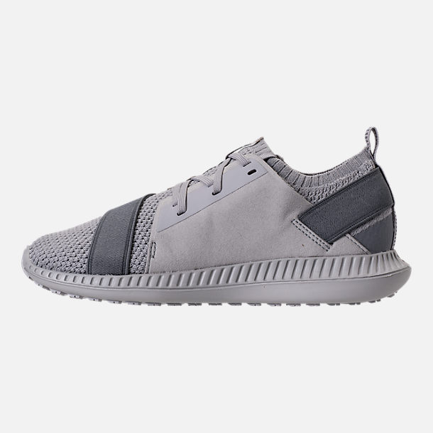 Left view of Boys' Grade School Under Armour Threadborne Shift Casual Shoes in Aluminum/Grey/Aluminum