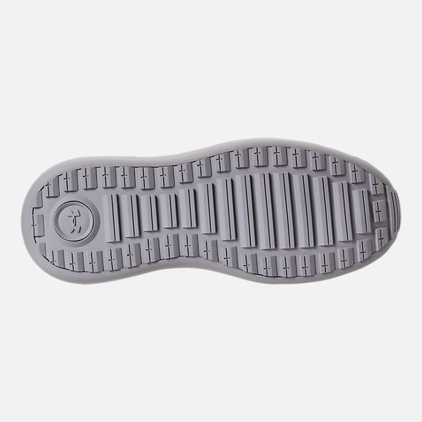 Bottom view of Boys' Grade School Under Armour Threadborne Shift Casual Shoes in Aluminum/Grey/Aluminum