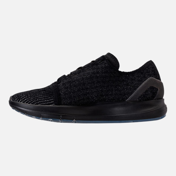Left view of Women's Under Armour Slingride Running Shoes in Black