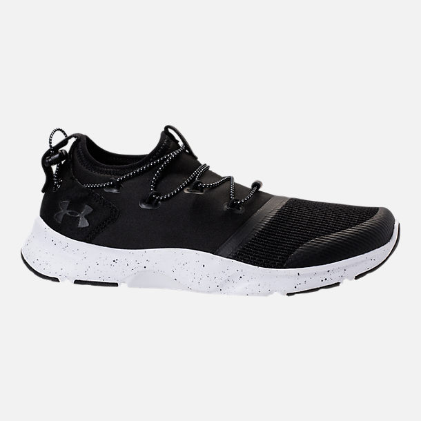 Right view of Boys' Grade School Under Armour Cinch Running Shoes in Black/White