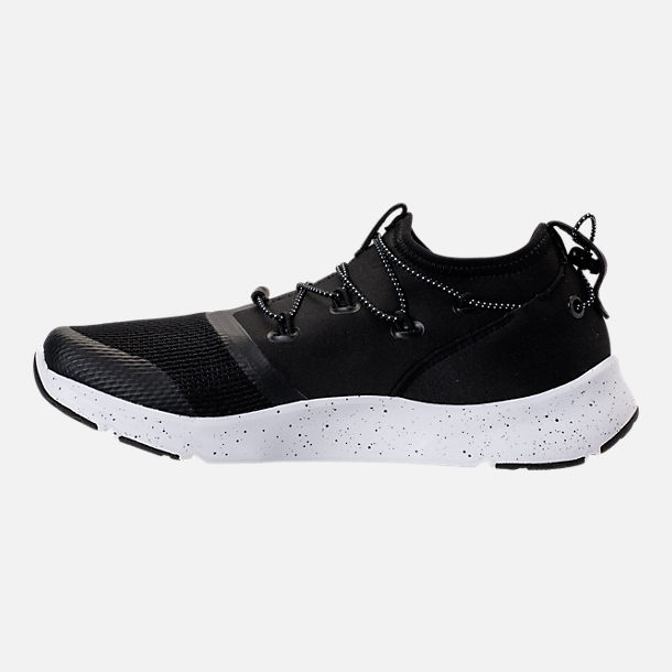 Left view of Boys' Grade School Under Armour Cinch Running Shoes in Black/White