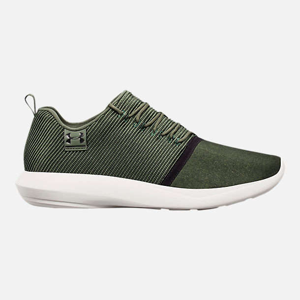 Right view of Men's Under Armour Charged All-Day Casual Shoes in Nori Green/Black/Metallic Iron