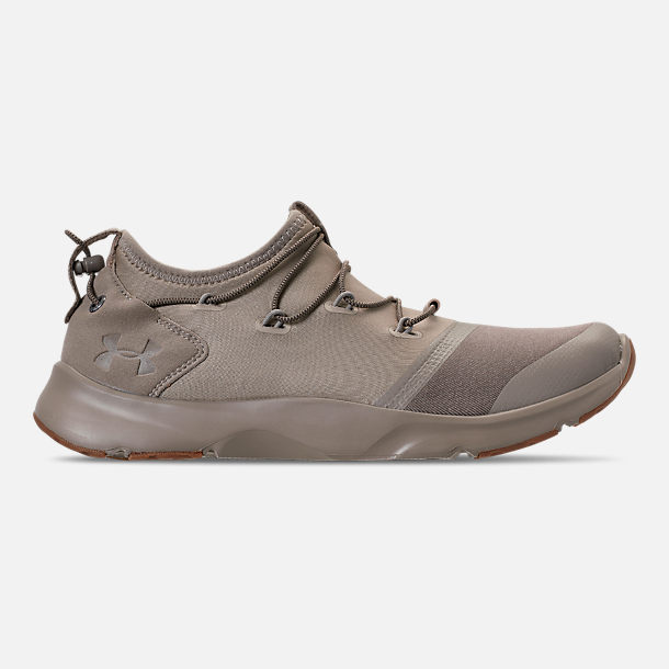 Right view of Boys' Grade School Under Armour Cinch x NM3 Running Shoes in Autumn Tan/Stone