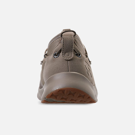 Back view of Boys' Grade School Under Armour Cinch x NM3 Running Shoes in Autumn Tan/Stone