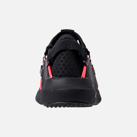 Back view of Men's Under Armour Rail Fit NP Casual Shoes in Black/Anthracite
