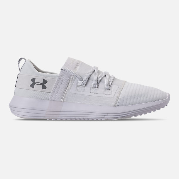 Right view of Men's Under Armour Adapt Running Shoes in White/Overcast Grey