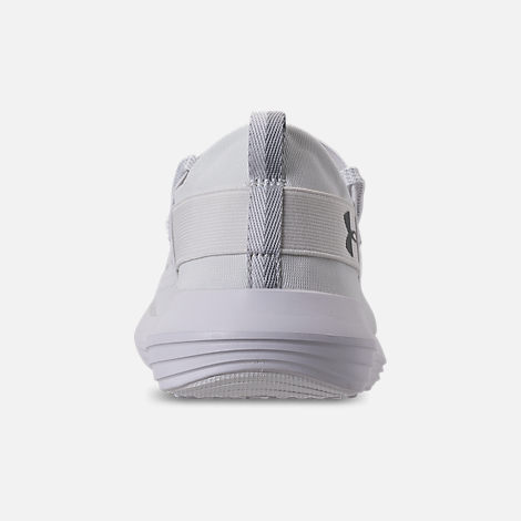 Back view of Men's Under Armour Adapt Running Shoes in White/Overcast Grey