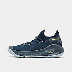 c52d738e0ae612 Big Kids  Under Armour Curry 6 Basketball Shoes