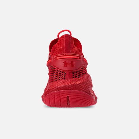 Back view of Big Kids' Under Armour Curry 6 Basketball Shoes in Red/Black/Red Rage