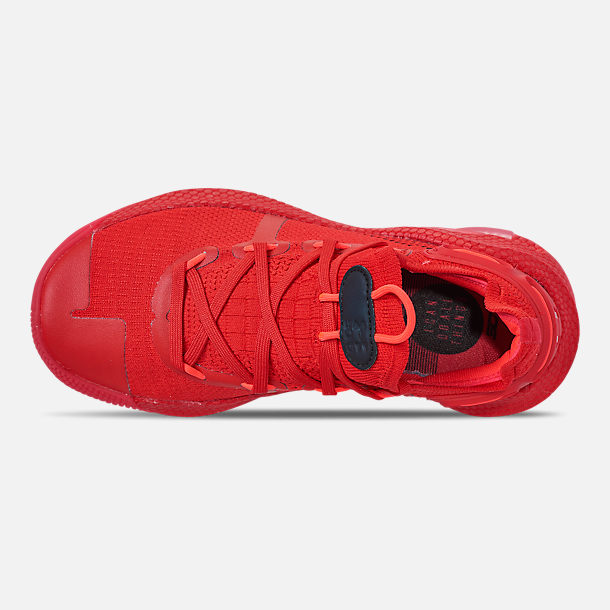 Top view of Big Kids' Under Armour Curry 6 Basketball Shoes in Red/Black/Red Rage