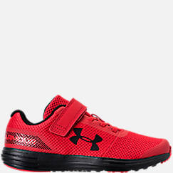 Boys' Little Kids' Under Armour Surge AC Hook-and-Loop Closure Running Shoes
