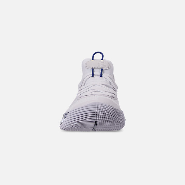 Front view of Men's Under Armour Curry 6 Basketball Shoes in White/Royal/White