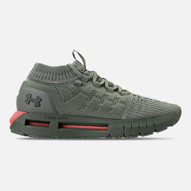 Right view of Boys' Grade School Under Armour HOVR Phantom Running Shoes in Moss Green/Downtown Green