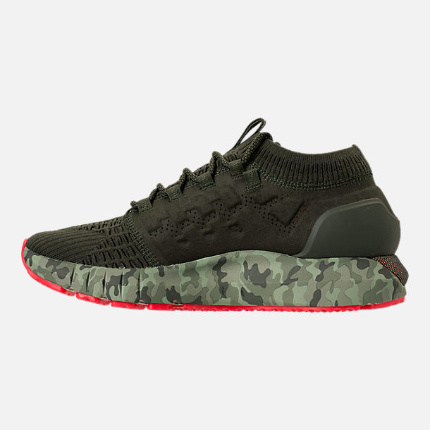 Left view of Men's Under Armour HOVR Phantom NM2 Running Shoes in Artilery Green/Sultry