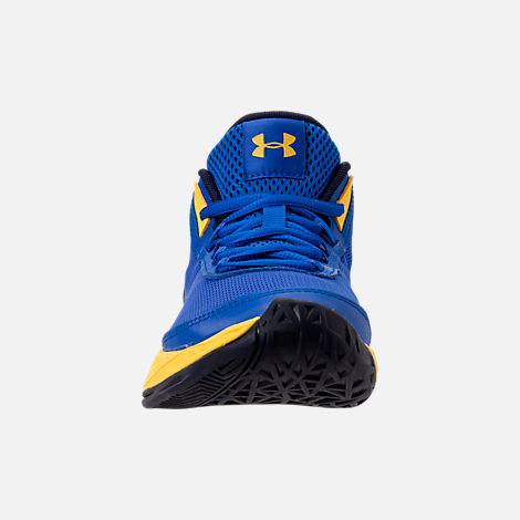 Front view of Boys' Grade School Under Armour Jet 2018 Basketball Shoes in Team Royal/Midnight/Taxi