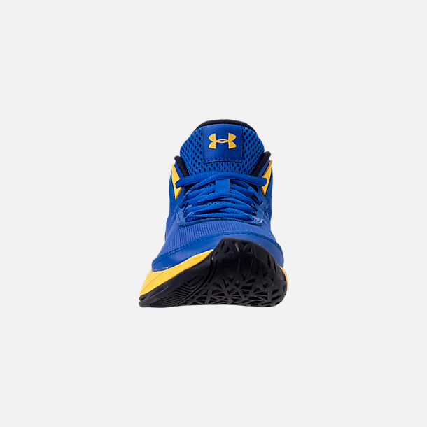 Front view of Boys' Big Kids' Under Armour Jet 2018 Basketball Shoes in Team Royal/Midnight/Taxi
