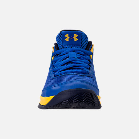 Front view of Boys' Little Kids' Under Armour Jet 2018 Basketball Shoes in Team Royal/Midnight/Taxi