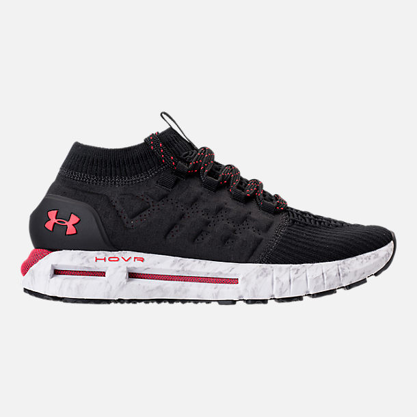 Right view of Men's Under Armour HOVR Phantom Running Shoes in Black/White/Red