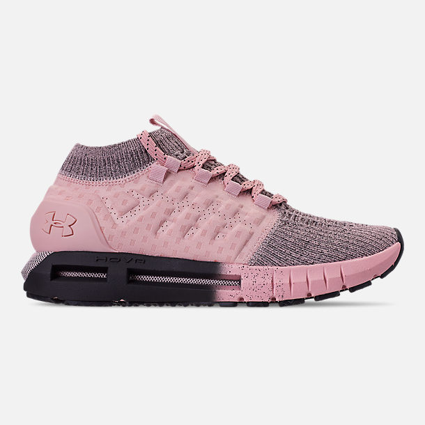 Right view of Women's Under Armour HOVR Phantom Running Shoes in Flushed Pink/Black