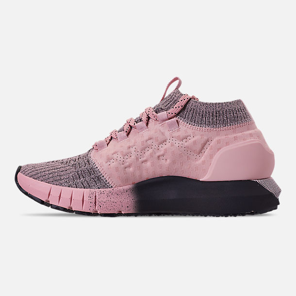 Left view of Women's Under Armour HOVR Phantom Running Shoes in Flushed Pink/Black
