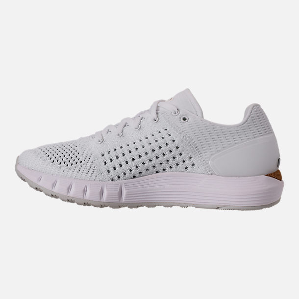 Left view of Women's Under Armour HOVR Sonic Running Shoes in White/Elemental