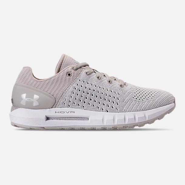 Right view of Women's Under Armour HOVR Sonic Running Shoes in Grey/White