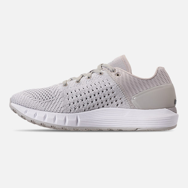 Left view of Women's Under Armour HOVR Sonic Running Shoes in Grey/White