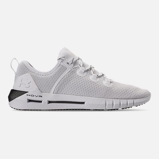 Right view of Men s Under Armour HOVR SLK Running Shoes in White Black White 5b0d954535
