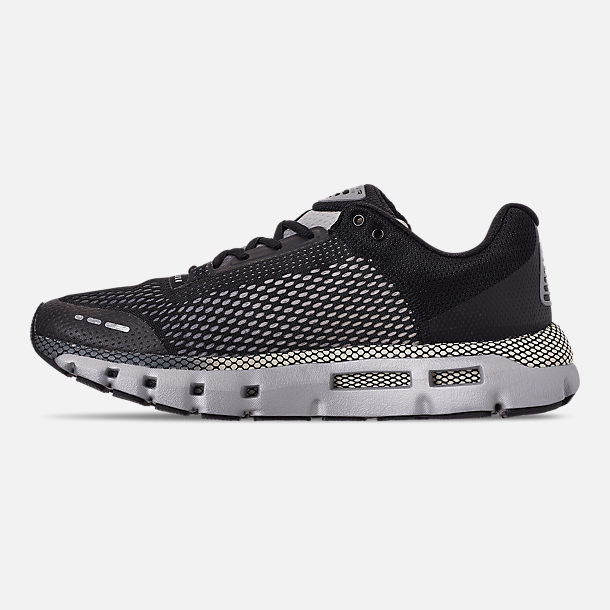 Left view of Men's Under Armour HOVR Infinite Running Shoes in Black/Pitch Grey/Metallic Gunmetal
