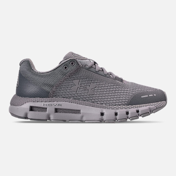 Right view of Men's Under Armour HOVR Infinite Running Shoes in Mod Grey/White/Reflective