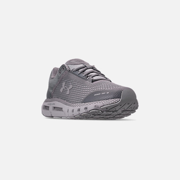 Three Quarter view of Men's Under Armour HOVR Infinite Running Shoes in Mod Grey/White/Reflective