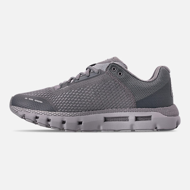 Left view of Men's Under Armour HOVR Infinite Running Shoes in Mod Grey/White/Reflective