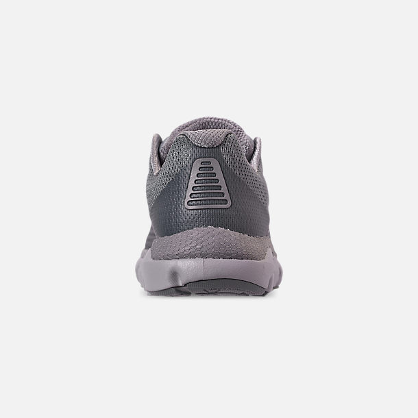 Back view of Men's Under Armour HOVR Infinite Running Shoes in Mod Grey/White/Reflective