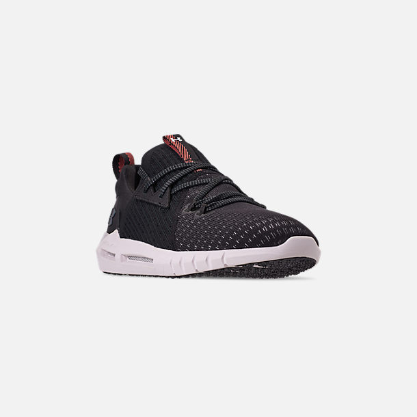 Three Quarter view of Men's Under Armour HOVR SLK EVO Running Shoes in Black/Onyx White/Black