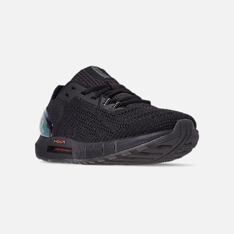 Three Quarter view of Men's Under Armour HOVR Sonic 2 Running Shoes in Black/Mango Orange/Papaya
