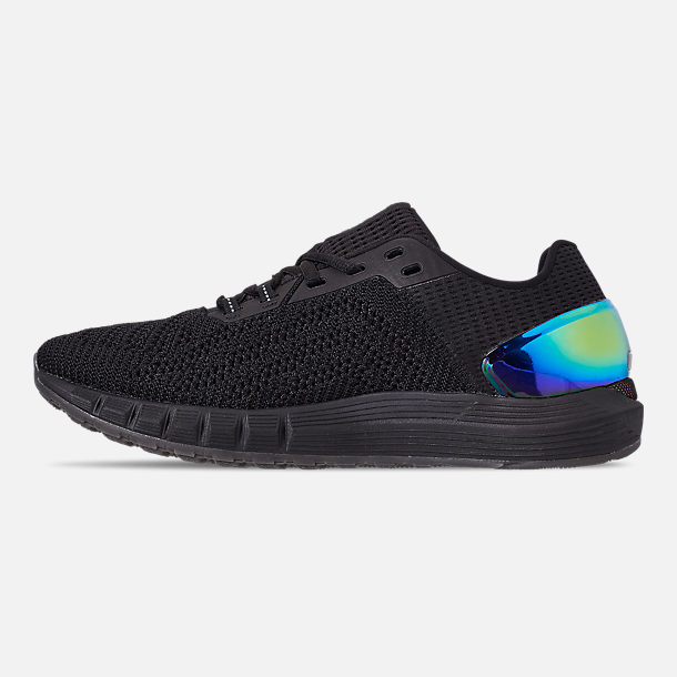 Left view of Men's Under Armour HOVR Sonic 2 Running Shoes in Black/Mango Orange/Papaya
