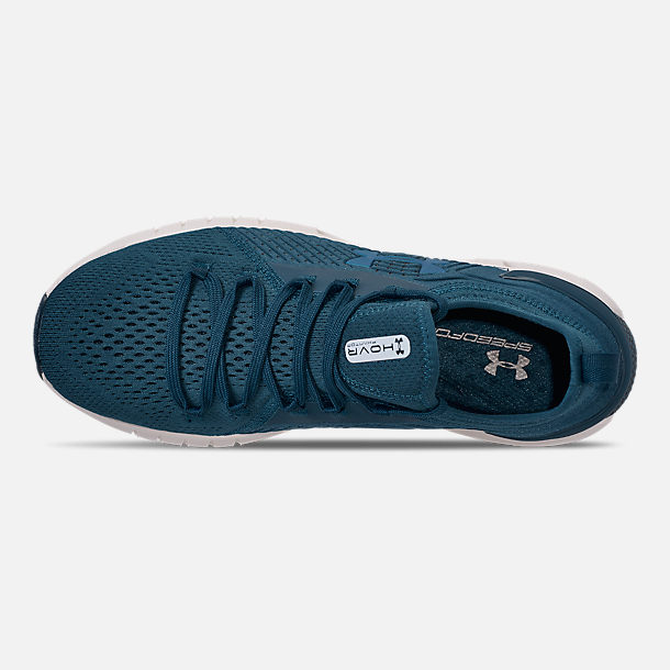 Top view of Men's Under Armour HOVR Phantom SE Running Shoes in Petrol Blue/Mod Grey/Petrol Blue