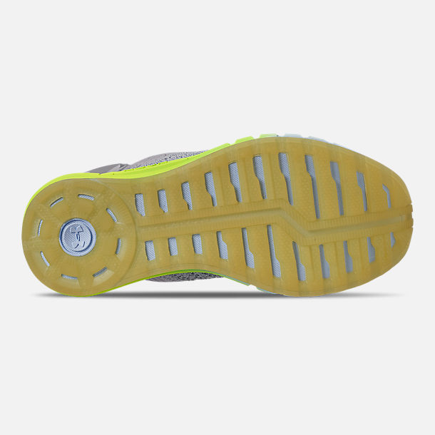 Bottom view of Women's Under Armour HOVR Sonic 2 Running Shoes in Mod Grey/High-Vis Yellow/Onyx