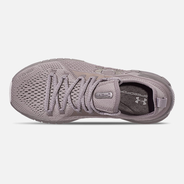 Top view of Women's Under Armour HOVR Phantom SE Running Shoes in Onyx White/Tetra Gray/Metal