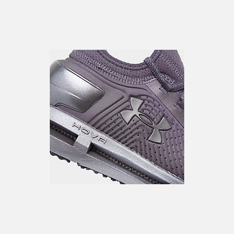 Front view of Women's Under Armour HOVR Phantom SE Running Shoes in Ash Taupe/Ash Taupe/Metal