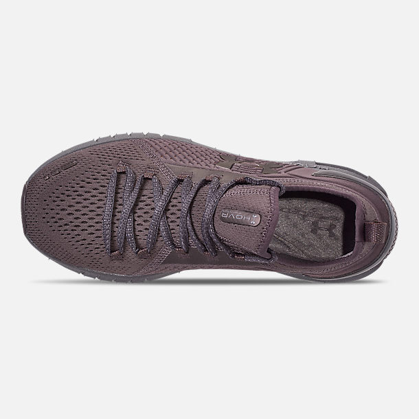 Top view of Women's Under Armour HOVR Phantom SE Running Shoes in Ash Taupe/Ash Taupe/Metal