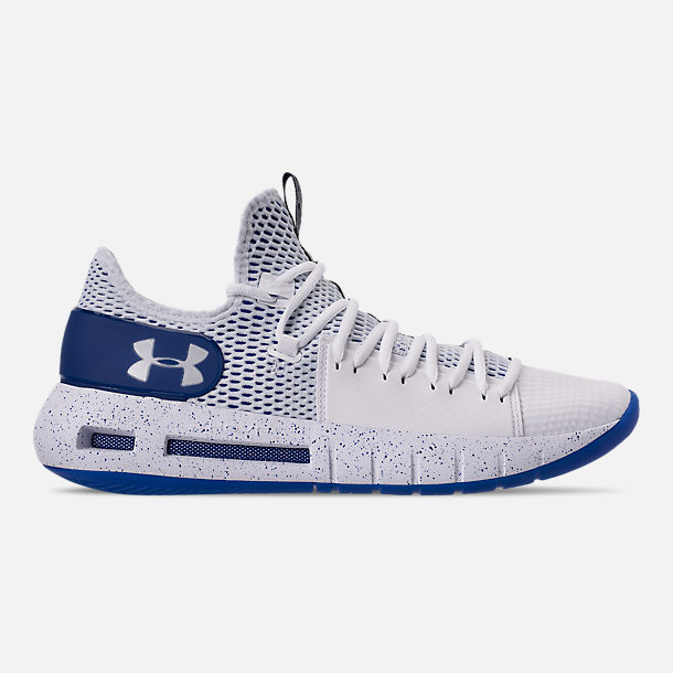 1ddea62bb89f Right view of Men s Under Armour HOVR Havoc Low Basketball Shoes in  White White