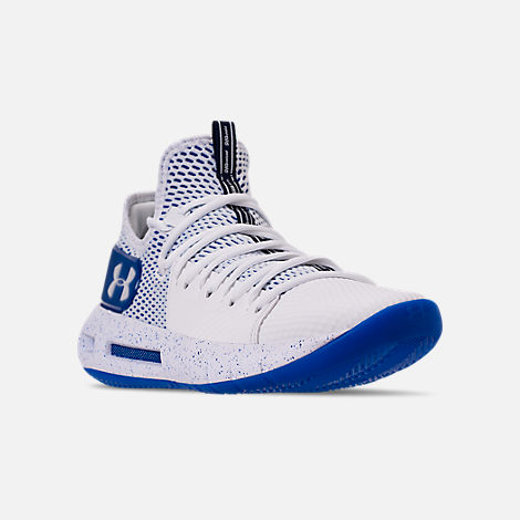 c7e520431243 Three Quarter view of Men s Under Armour HOVR Havoc Low Basketball Shoes in  White White
