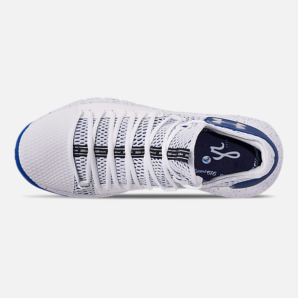 3562c25d203f Top view of Men s Under Armour HOVR Havoc Low Basketball Shoes in  White White