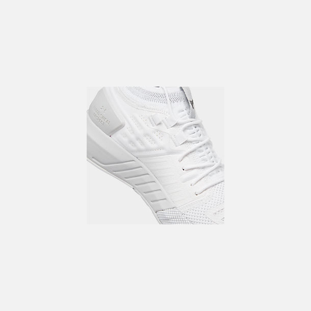Front view of Men's Under Armour Project Rock 2 Training Shoes in White/White/Black