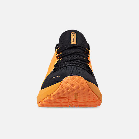 Front view of Men's Under Armour HOVR Phantom SE MD Running Shoes in Mango Orange/Black/Papaya