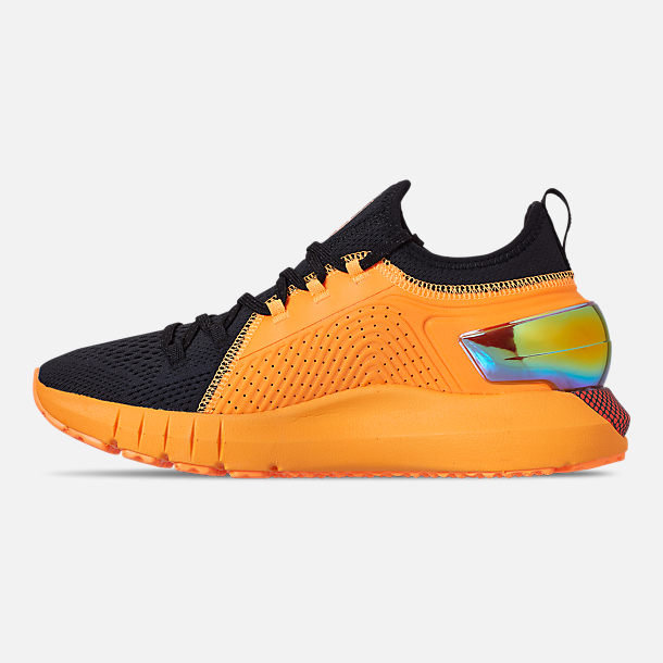 Left view of Men's Under Armour HOVR Phantom SE MD Running Shoes in Mango Orange/Black/Papaya