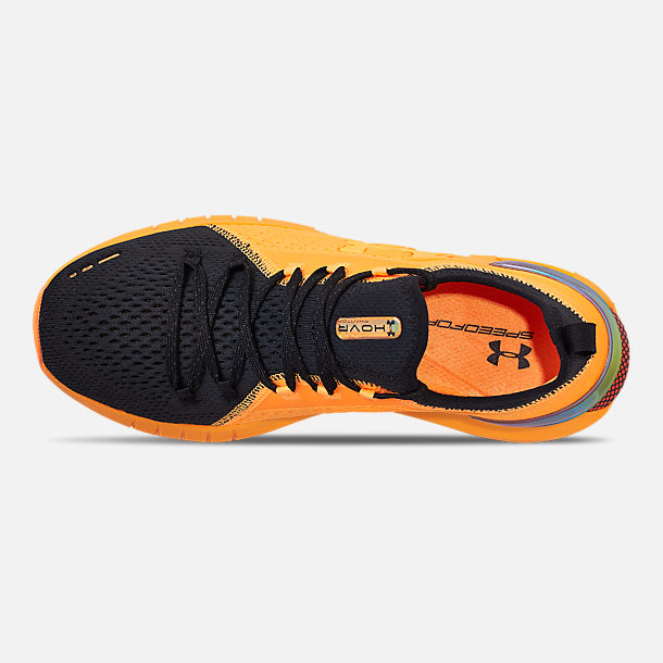 Top view of Men's Under Armour HOVR Phantom SE MD Running Shoes in Mango Orange/Black/Papaya