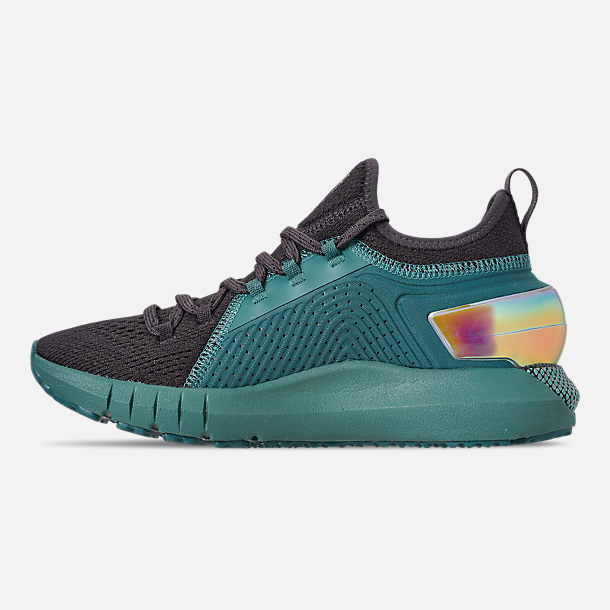 Left view of Women's Under Armour HOVR Phantom SE MD Running Shoes in Aure Teal/Black/Azure Teal